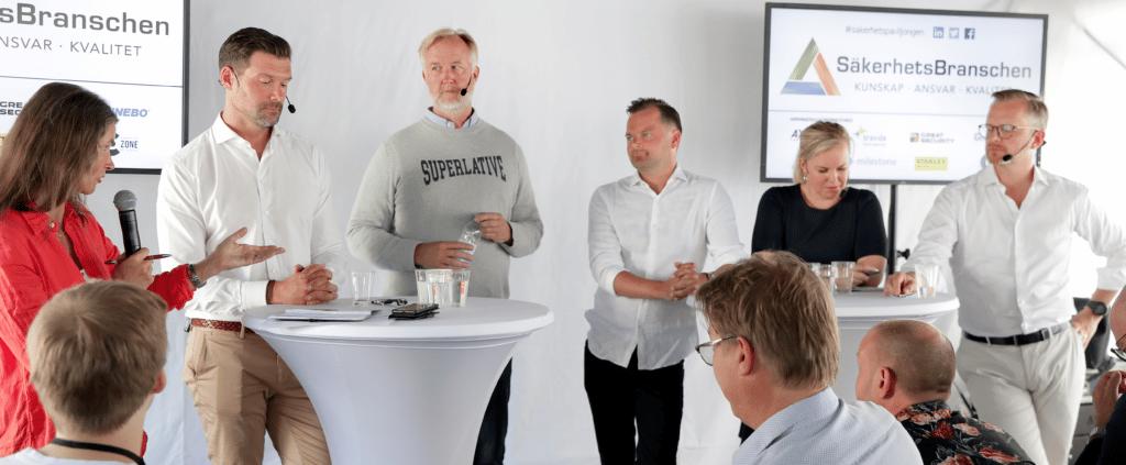INRIKESMINISTERN I SÄKERHETSPAVILJONGEN: EN AV VÅR TIDS VIKTIGASTE FRÅGOR