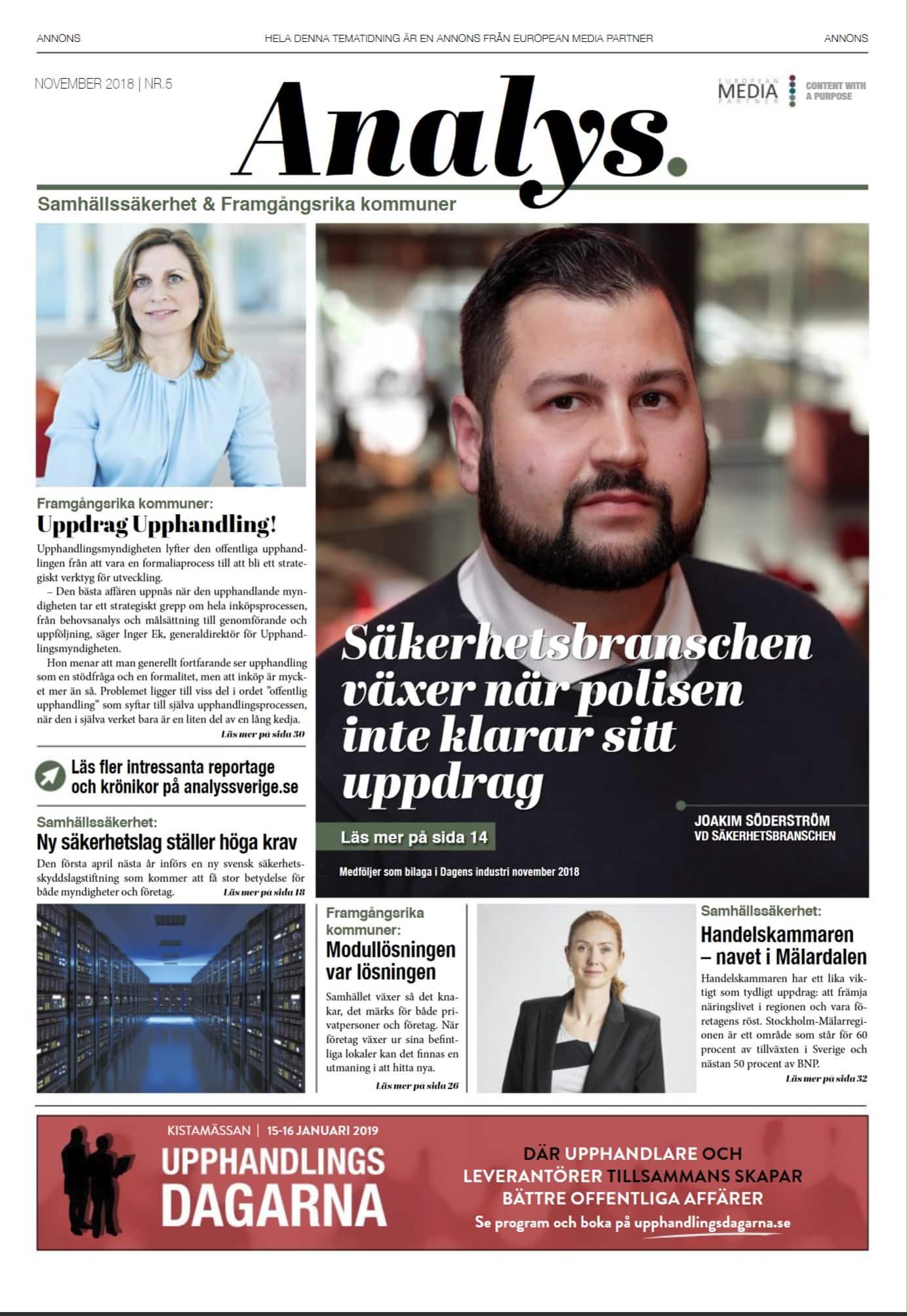 INTERVJU MED SÄKERHETSBRANSCHEN