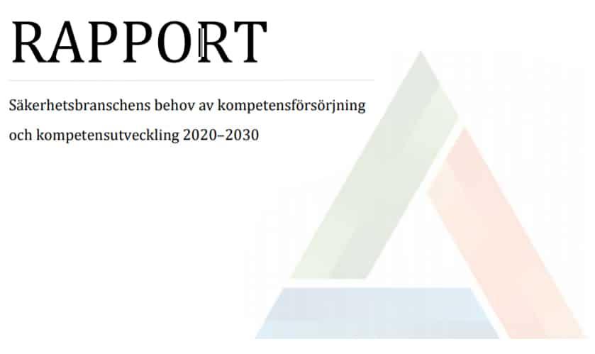 Rapporten om branschens kompetensbehov är nu klar!