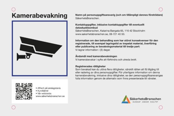 Nya riktlinjer för kamerabevakning