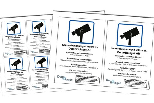Ny medlemsförmån: GDPR-anpassade kameraskyltar och dekaler